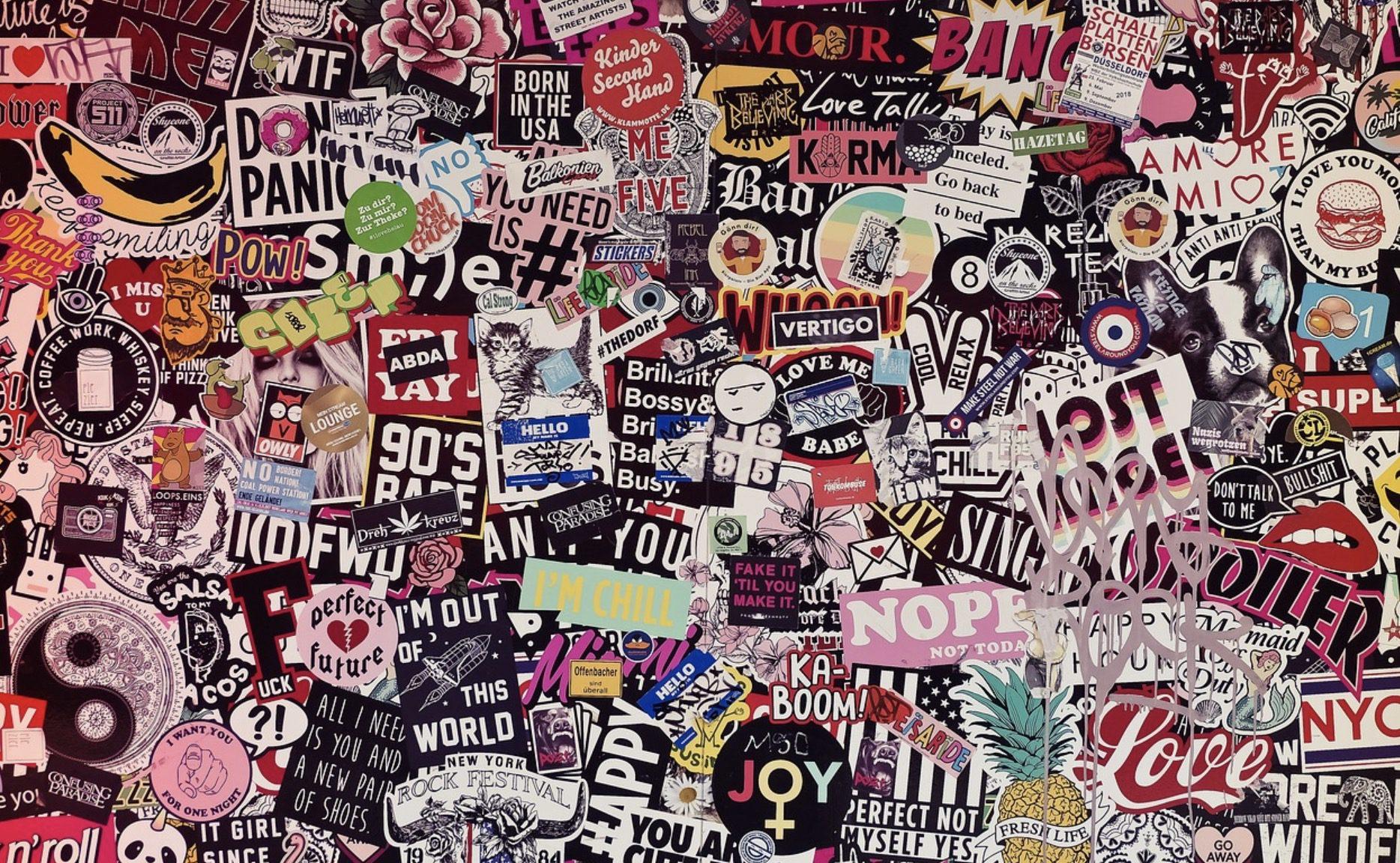 Les lettres adhésives en stickers